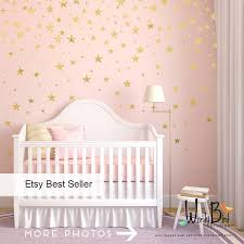 Butterfly Wall Decals For Nursery by Gold Stars Wall Decals Set Peel And Stick Baby Nursery Wall