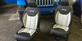 Jeep Wrangler Leather Interior Leather Interior For A Montreal Jeep Wrangler Owner