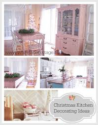 Kitchens Decorating Ideas Christmas Kitchen Decorating Ideas White Lace Cottage