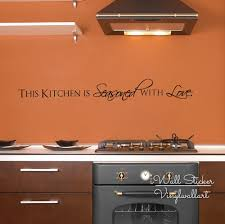 compare prices on modern love quotes online shopping buy low kitchen quote wall sticker this kitchen is seasoned with love quote wall decal kitchen wall quotes