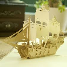 1 pc vintage greeting card ship shaped blessing cards free