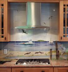 kitchen design sweet backsplash idea for beach themed kitchen
