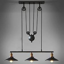 Retro Hanging Light Fixtures Coquimbo Rustic Home Decor Retro Pendant Retractable Chandelier