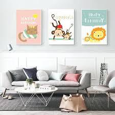 Monkey Decor For Nursery Wall Arts Canvas Wall Nursery King Nursery Wall Decals