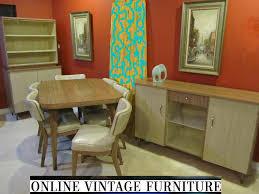 1950s walter of wabash howell dining room set vintage mid