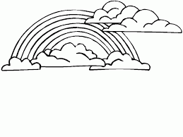 rainbow coloring page 2 coloring pages
