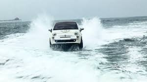 amphibious rv is it just me or is that a fiat 500 racing over the ocean the