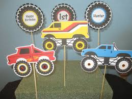 monster truck jam party supplies monster truck decoration 6 monster birthday monster centerpiece