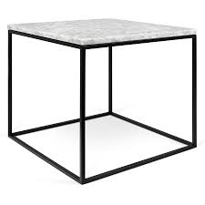 square metal coffee table gleam white black marble modern side table by temahome eurway