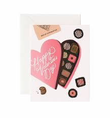 Chocolates by Valentine U0027s Day Chocolates Greeting Card By Rifle Paper Co Made