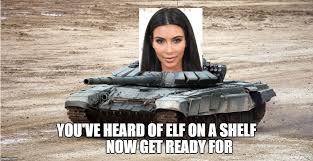 Skank Meme - image tagged in kim kardashian skank elf on a shelf skank on a tank