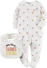 carters thanksgiving s unisex baby thanksgiving sleep play set 3