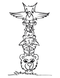 coloring pages cool totem pole coloring pages animal figure