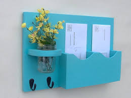 Mail And Key Holder Mail And Key Organizer Mail Organizer With Key Hooks Mail