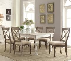 Dining Room Table Farmhouse Riverside Furniture Aberdeen 7 Farmhouse Dining Set