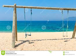 Double Swing Double Swing On Beach By The Sea Royalty Free Stock Image Image