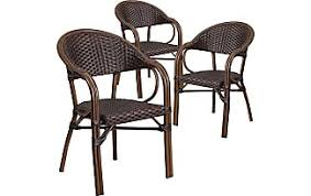 Milano Patio Furniture Cane Chairs In Red 10 Items Sale At Usd 58 34 Stylight