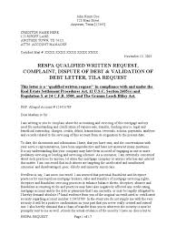 download sample qualified written request qwr respa dispute of