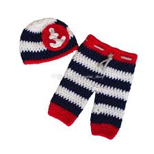 newborn nautical sailor costume handmade knit crochet baby boy