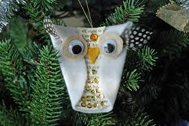 that artist snowy owl ornaments