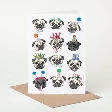 pug birthday card by pugyeah notonthehighstreet