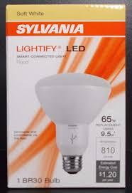 flood light bulbs sylvania sylvania lightify 65w equv dimmable soft white br30 led flood light