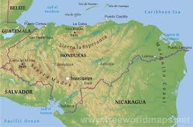 geographical map of guatemala honduras physical map