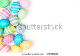 pastel easter eggs easter eggs painted pastel colors on stock photo 125915186