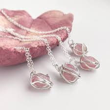 pink crystal pendant necklace images Handmade pink tourmaline sterling silver necklace by lizardi jewelry jpg