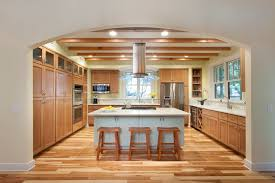 rustic hickory kitchen cabinets kitchen traditional with beach