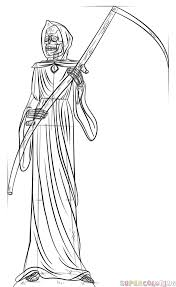 draw grim reaper step step drawing tutorials
