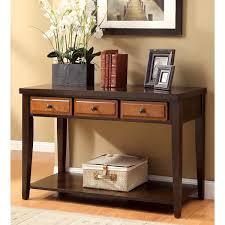 36 inch high console table 36 inch high console table furniture of america dark oak and cherry