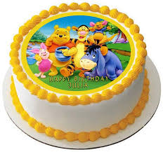 winnie the pooh cake topper winnie pooh 1 edible birthday cake or cupcake topper edible