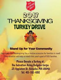 salvation army in holyoke hosting thanksgiving turkey drive