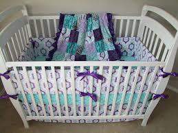 Purple And Aqua Crib Bedding Purple Aqua Nursery Set Purple Nursery Bedding Purple Teal