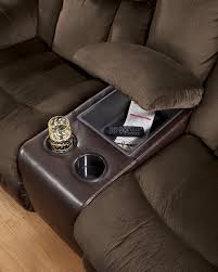 buy tafton java double reclining loveseat w console by signature