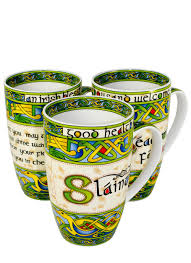 Design Mugs by Clara Crafts Irish Celtic Design Mugs Set Of 3 Blarney
