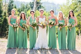 green bridesmaid dresses mountain wedding green floral designs and floral