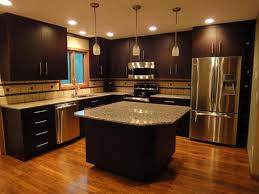 dark espresso walnut door cabinet wall dark kitchen cabinets wall