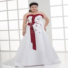 white wedding dress with royal blue sash and white plus size wedding dresses pluslook eu collection
