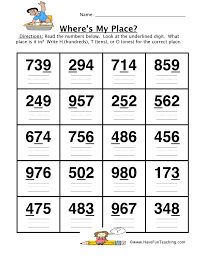 place value worksheets page 3 of 5 have fun teaching