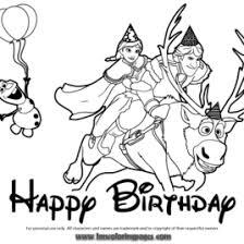 frozen coloring birthday card archives mente beta