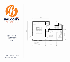 U Condo Floor Plan by The Balcony Auburn Al
