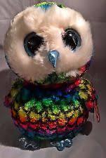 ty girls womens beanie boos aria owl keyring clip