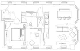Den Floor Plan Furnished One Bedroom Den Roost