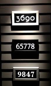 Lighted House Number Sign Address Led Illuminated House Numbers House Numbers Seattle