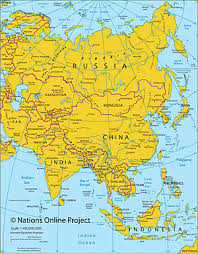 map of asia countries and cities maps of the world political and administrative maps of continents