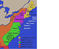 the thirteen colonies map map of the 13 colonies south carolina