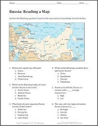 what is a map russia map worksheet free to print pdf file geography