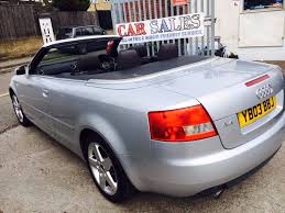 audi a4 cabriolet 1 8 t sport petrol manual 2003 air con 2 owner